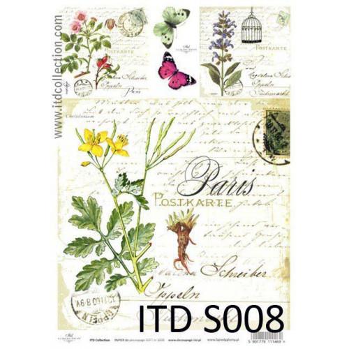 Papier decoupage soft ITD S008