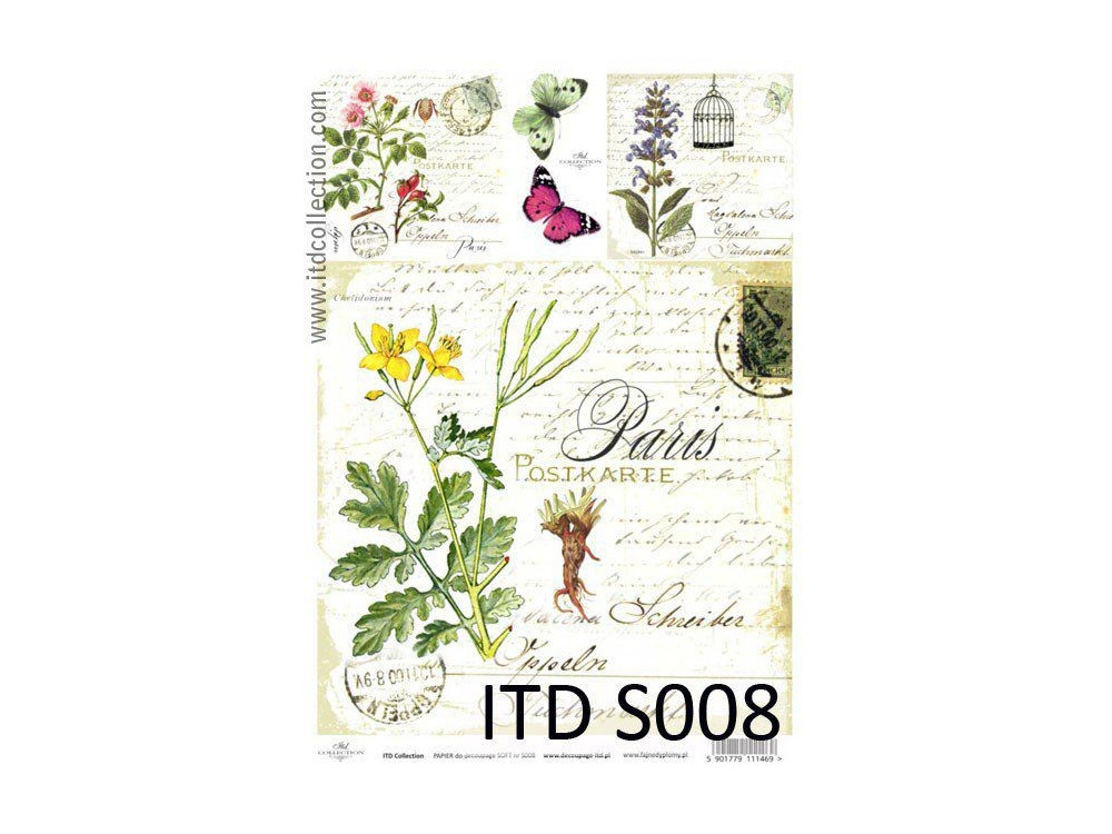 Papier do decoupage A4 - ITD Collection - soft, S008