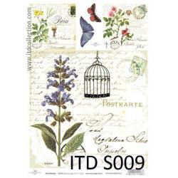 Papier do decoupage A4 - ITD Collection - soft, S009