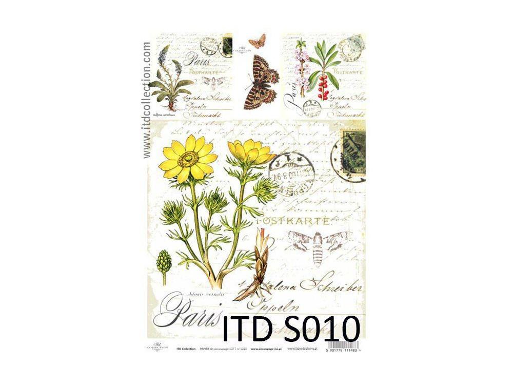 Papier do decoupage A4 - ITD Collection - soft, S010