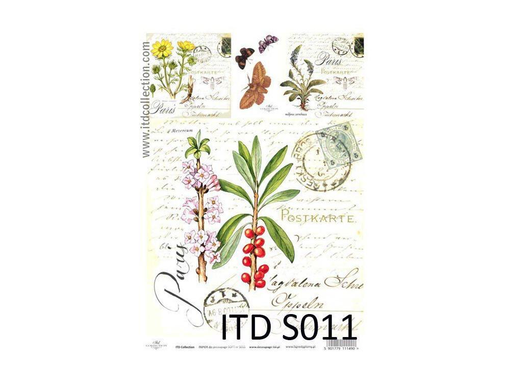 Papier decoupage soft ITD S011