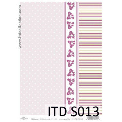 Papier do decoupage A4 - ITD Collection - soft, S013