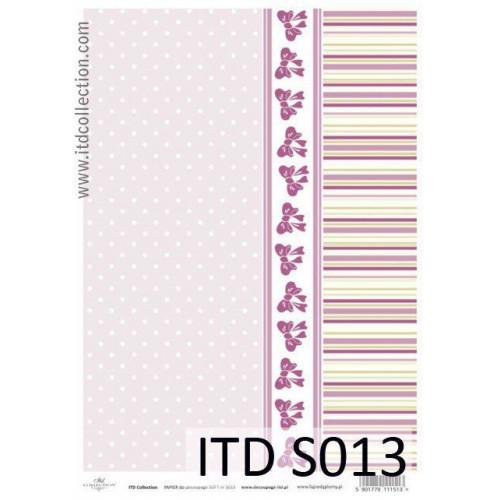 Papier decoupage soft ITD S013