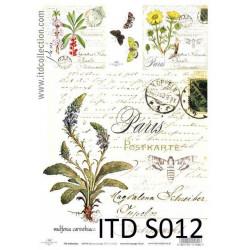 Papier do decoupage A4 - ITD Collection - soft, S012