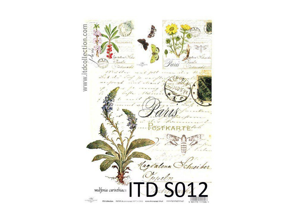 Papier do decoupage A4 - ITD Collection - soft, S012