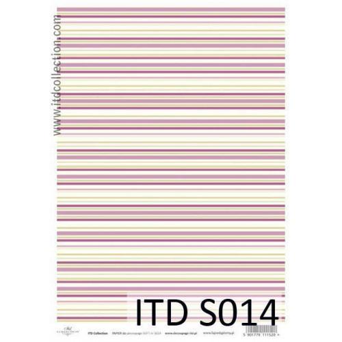 Papier decoupage soft ITD S014