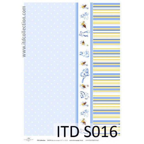 Papier decoupage soft ITD S016