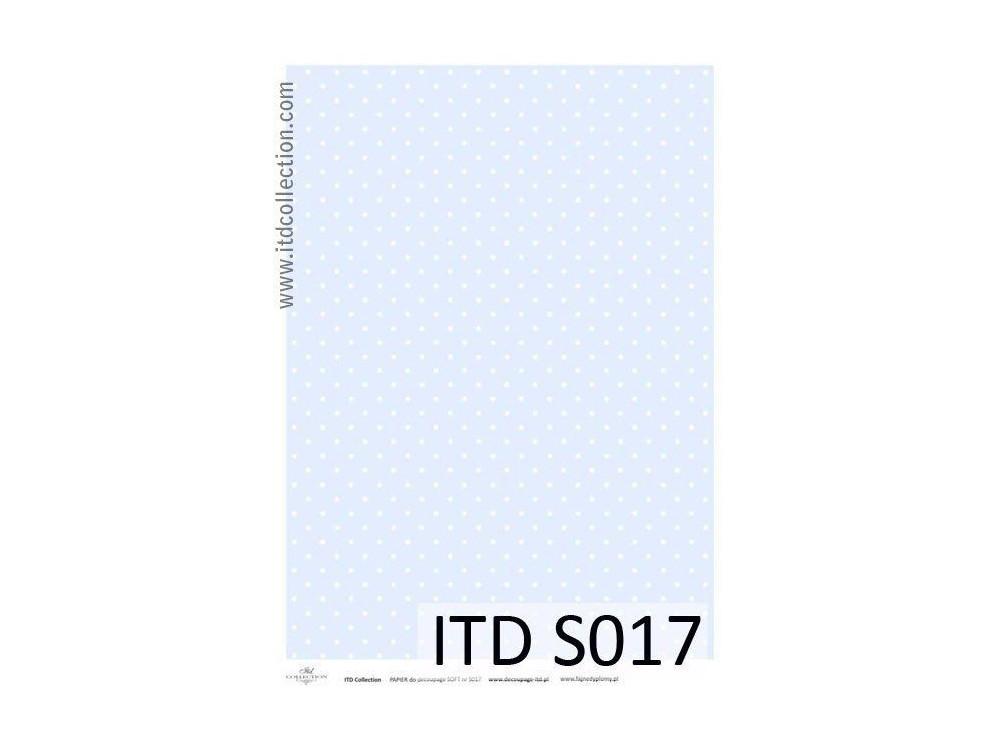 Papier do decoupage A4 - ITD Collection - soft, S017