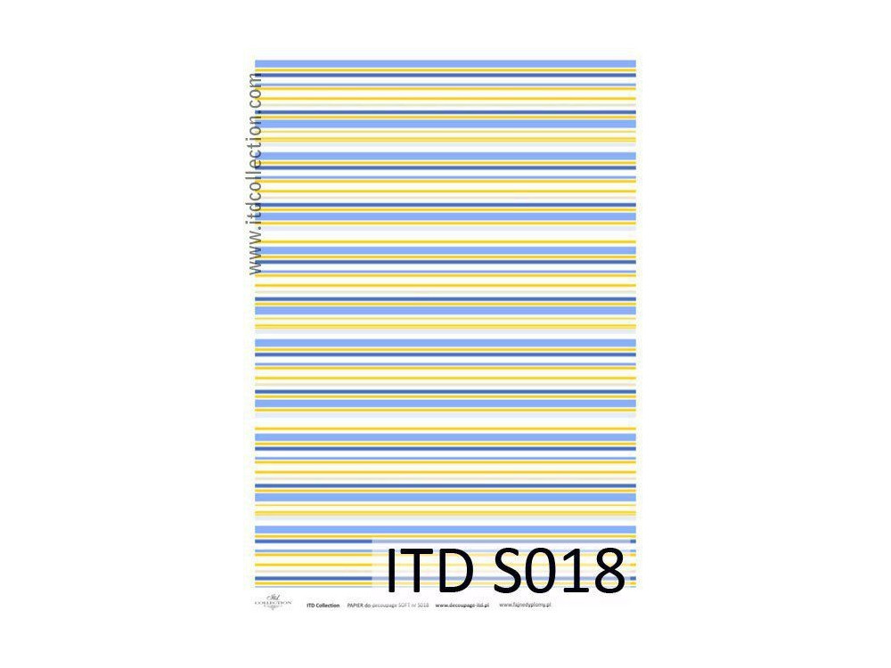 Papier do decoupage A4 - ITD Collection - soft, S018