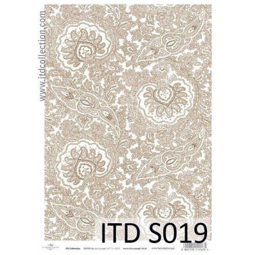 Papier decoupage soft ITD S019
