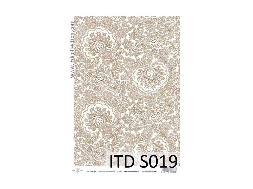 Papier do decoupage A4 - ITD Collection - soft, S019