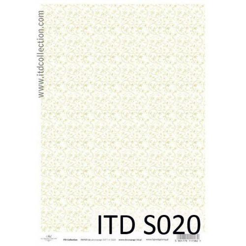 Papier decoupage soft ITD S020