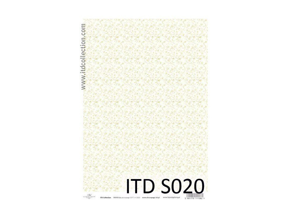 Papier do decoupage A4 - ITD Collection - soft, S020
