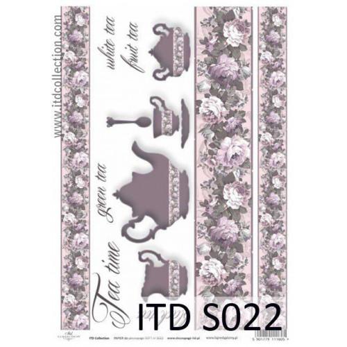 Papier decoupage soft ITD S022