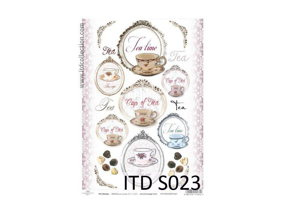 Papier do decoupage A4 - ITD Collection - soft, S023