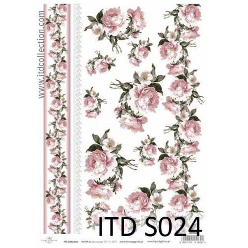 Papier decoupage soft ITD S024