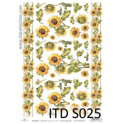 Papier decoupage soft ITD S025