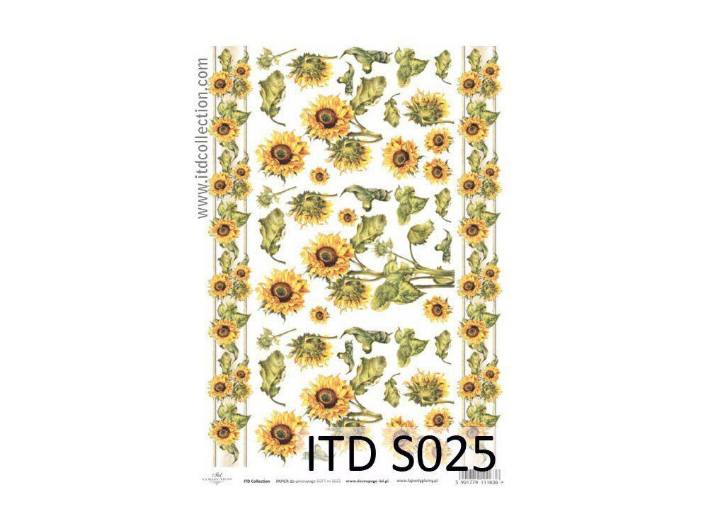 Papier do decoupage A4 - ITD Collection - soft, S025