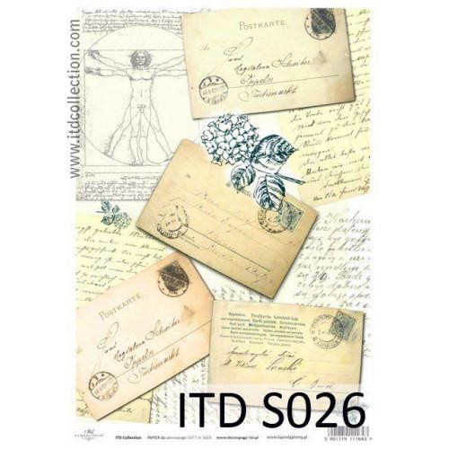 Papier decoupage soft ITD S026