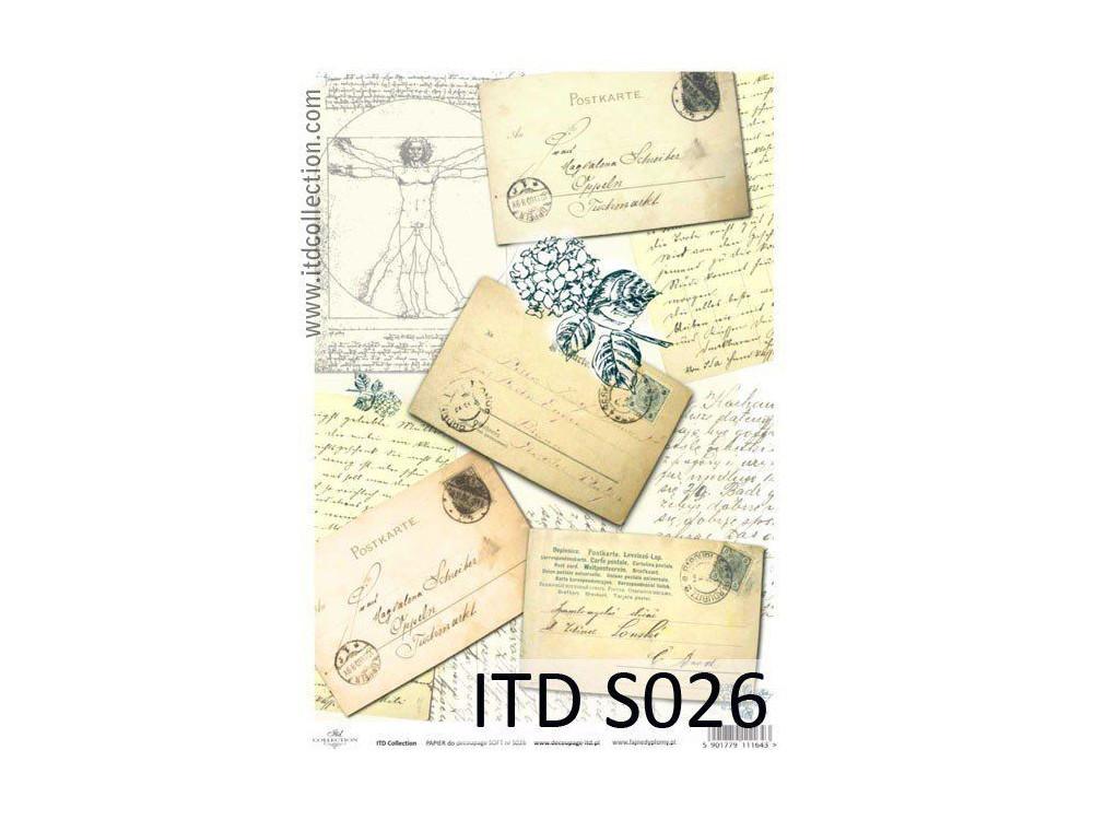 Decoupage Paper Soft ITD S026