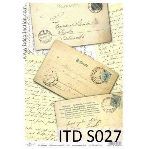 Papier decoupage soft ITD S027