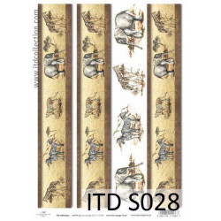 Decoupage Paper Soft ITD S028
