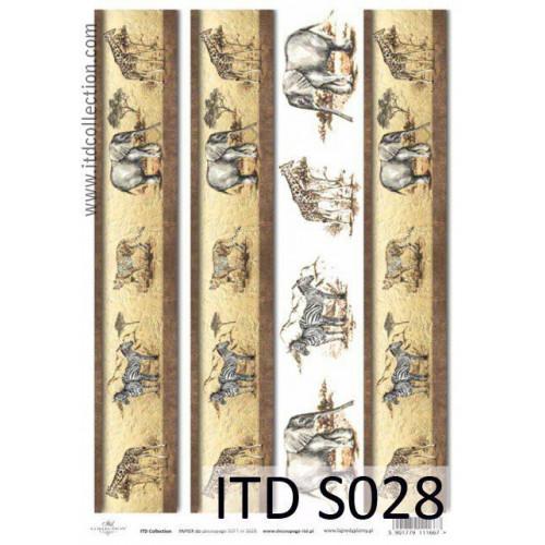 Papier decoupage soft ITD S028