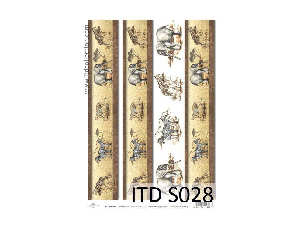 Papier do decoupage A4 - ITD Collection - soft, S028