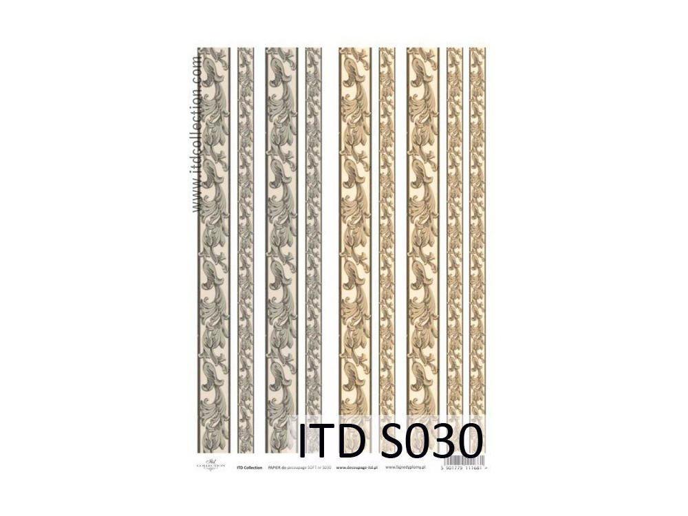 Papier decoupage soft ITD S030