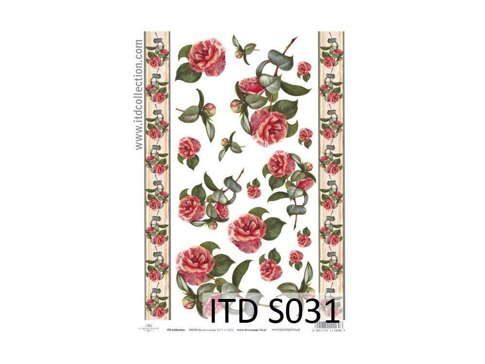 Papier decoupage soft ITD S031