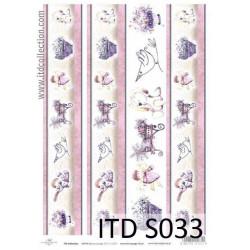 Papier do decoupage A4 - ITD Collection - soft, S033