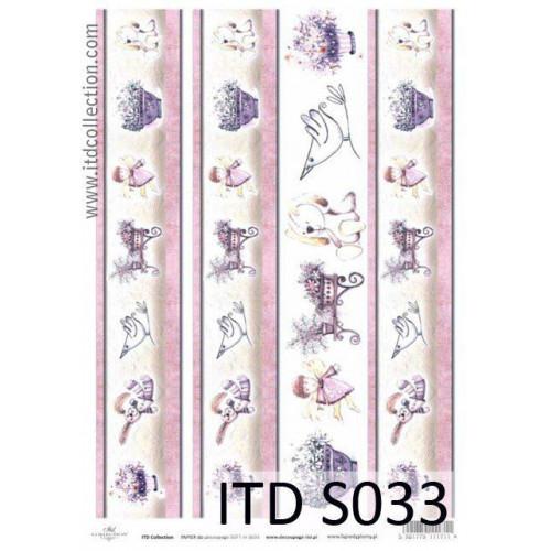 Papier decoupage soft ITD S033