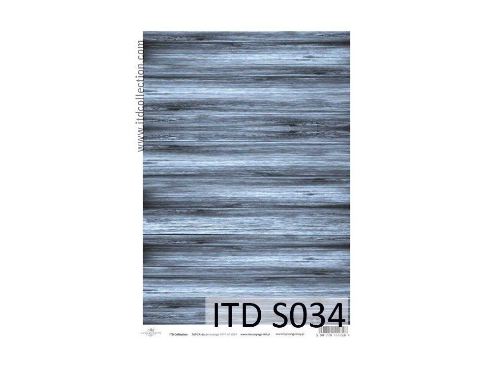 Papier decoupage soft ITD S034