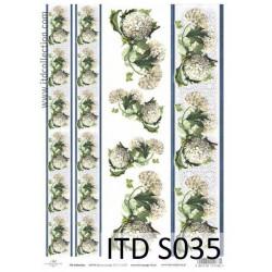Papier do decoupage A4 - ITD Collection - soft, S035