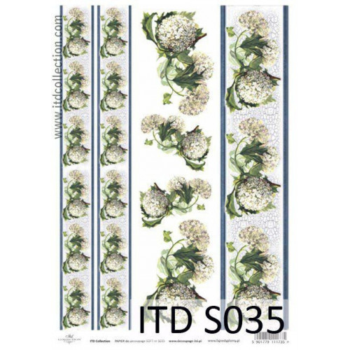 Papier decoupage soft ITD S035