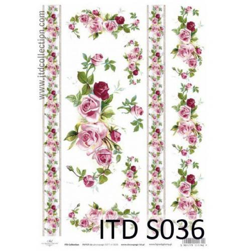 Papier decoupage soft ITD S036