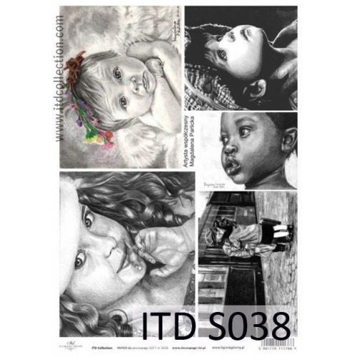 Papier decoupage soft ITD S038