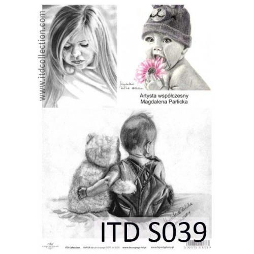 Papier decoupage soft ITD S039
