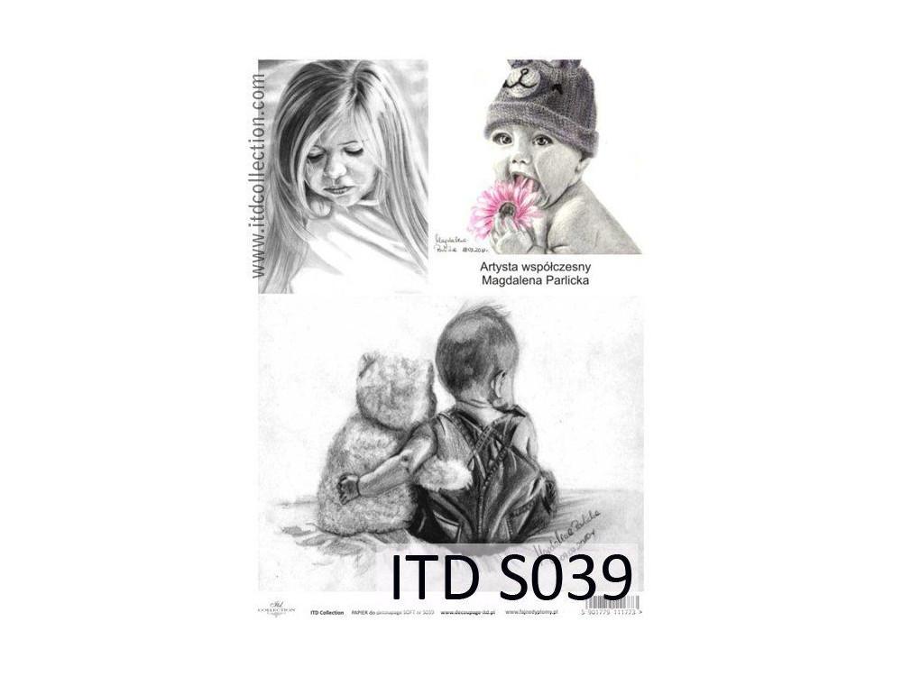 Decoupage Paper Soft ITD S039