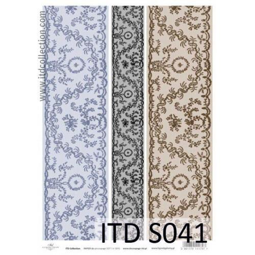 Papier decoupage soft ITD S041
