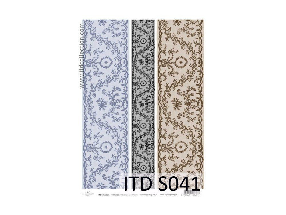 Decoupage Paper Soft ITD S041
