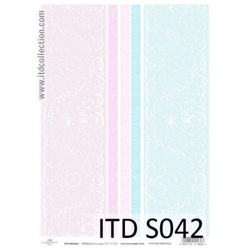 Papier decoupage soft ITD S042