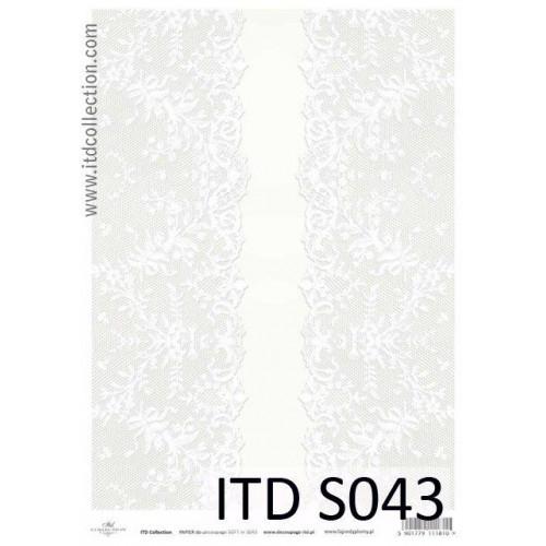 Papier decoupage soft ITD S043