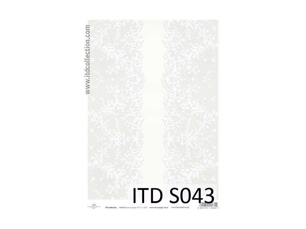 Papier do decoupage A4 - ITD Collection - soft, S043