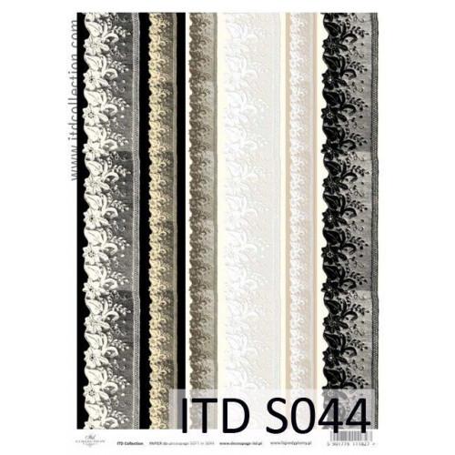 Papier decoupage soft ITD S044