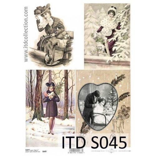 Papier decoupage soft ITD S045