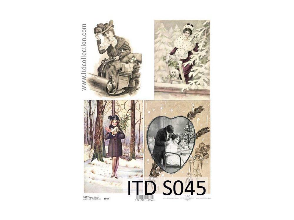 Papier do decoupage A4 - ITD Collection - soft, S045