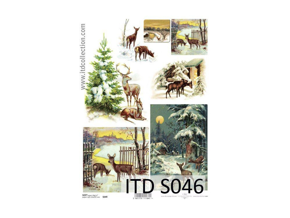 Papier do decoupage A4 - ITD Collection - soft, S046