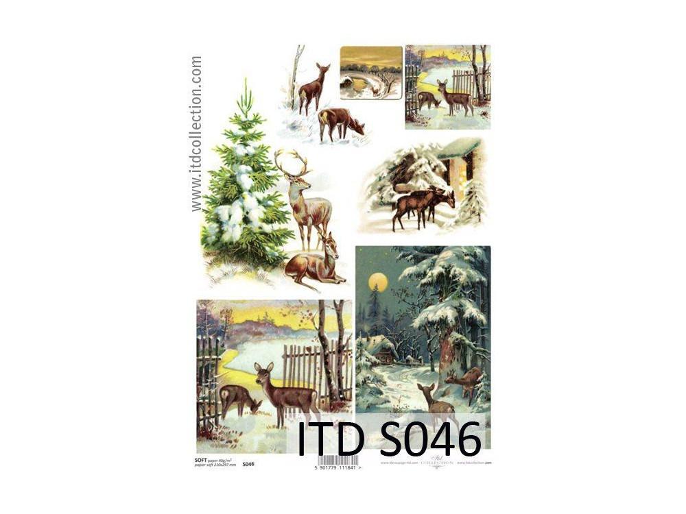 Papier do decoupage A4 - ITD - soft, S046