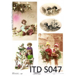 Papier do decoupage A4 - ITD Collection - soft, S047